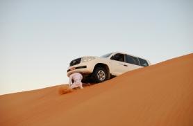 Meie auto liivadüünist alla sõitmas Omaan 2012