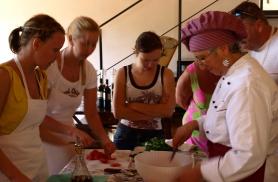 Kokanduskursusel Toskaanas 2008